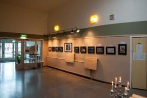 Del av utställning i Folkets hus, Uddevalla under Uddevalla kommuns kulturvecka 2014.